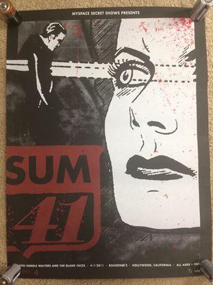 Foto de Sum 41 Myspace Secret Show Poster