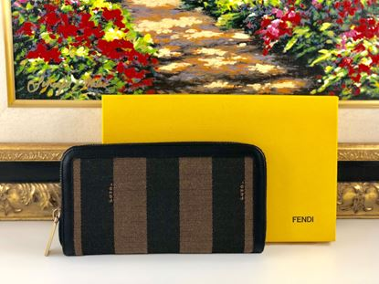 Picture of Fendi Brown Pique Zipped Wallet