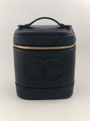 图片 Chanel Vintage Black Vanity Case