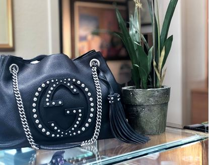 Picture of Gucci Studded Soho Satchel