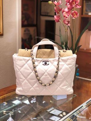 图片 Chanel White Portobello Tote
