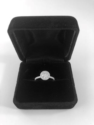 Picture of De Beers Micro Pave Aura Solitaire Diamond RIng