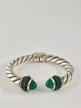 Picture of David Yurman Oestra Bracelet with Green Onyx