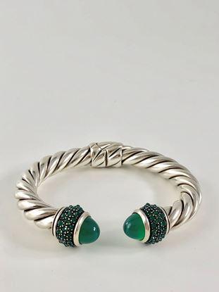 图片 David Yurman Oestra Bracelet with Green Onyx