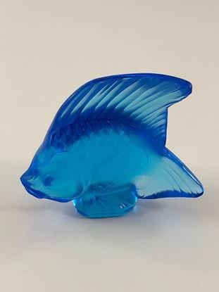 图片 Lalique Pale Blue Crystal Fish
