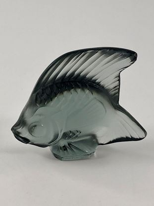 Picture of Lalique Grey Smoke Crystal Fish