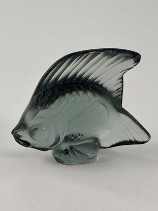 图片 Lalique Grey Smoke Crystal Fish