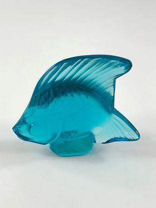 图片 Lalique Aqua Blue Crystal Fish