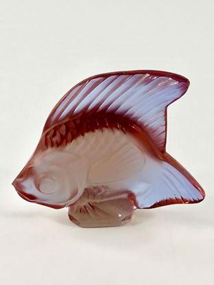 图片 Lalique Light Pink Crystal Fish