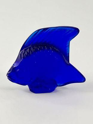 图片 Lalique Royal Blue Crystal Fish