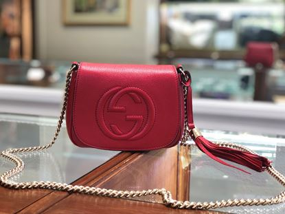 Picture of Gucci Soho Red  Leather Crossbody
