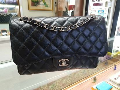 Chanel, caviar, double flap, classic, quilted
