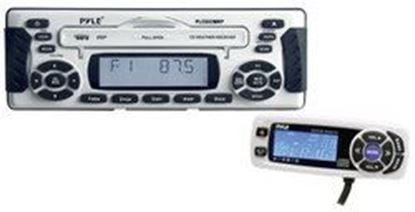 Image de 1.5 DIN Waterproof Marine CD/MP3 Player Receiver w/Weather Band & Wired Remote