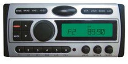 Image de 1.5-Din AM/FM Receiver / CD/DVD/MP3/AM-FM Marine Grade Player