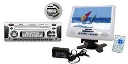 Image de 1.5 DIN Waterproof Marine DVD/CD/MP3 Weather Band Receiver w/7'' LCD Monitor