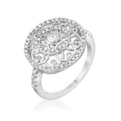 Picture of .5 Ct Interlocking Circles Ring with CZ
