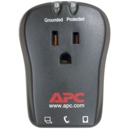 Image de APC P1T 1-Outlet Travel Surge Protector with Telephone Protection