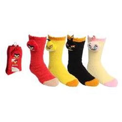 Image de Angry Birds Ladies Travel Socks 'Softee' [4 styles in pack - 9-11 Sock Size and 6-10 Shoe Size]