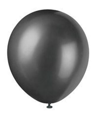 "Image de 12"" Latex Balloons 8ct - Pearlized Shadow Black"