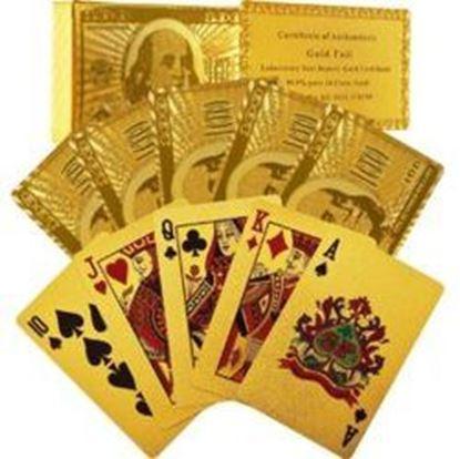 图片 24 Karat Gold Foil Playing Cards
