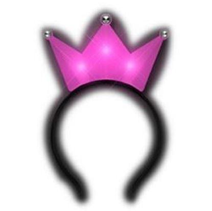 图片 3 Jeweled Hot Pink Princess Crown Headbands