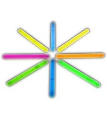 图片 2 Inch Glow Stick Assorted Pack of 100
