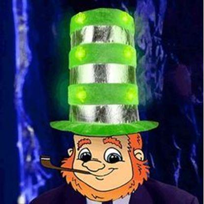 图片 1 Dozen Light Up Shamrock Tall Top Hats
