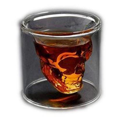 图片 1 Ounce  Crystal Skull Beer Whiskey Shot Double Glass Cup