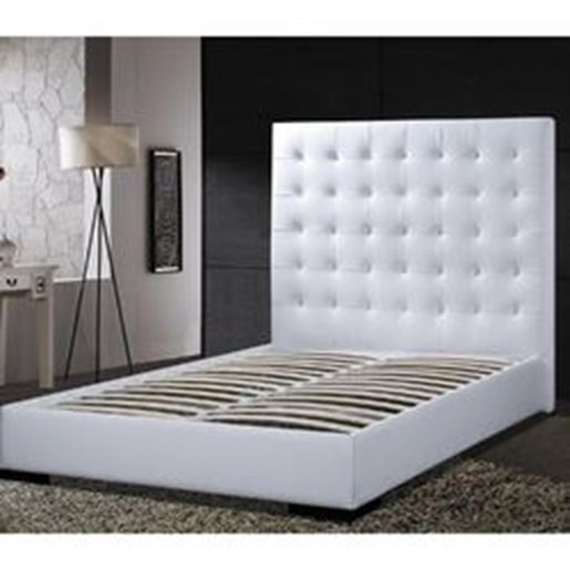 Zoobubble Com Official Website Powered By Business Queen Size Modern Platform Bed With White Faux Leather Headboard