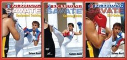 图片 3 DVD SET French Kickboxing Savate Sparring Equipment Self Defense Salem Assli