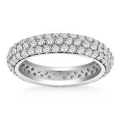 Picture of 14k White Gold Cupola Round Diamond Eternity Ring in 14k White Gold, size 4
