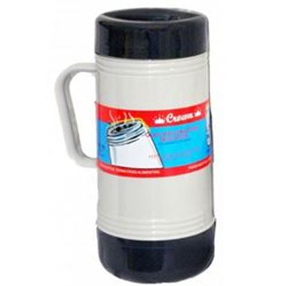 Image de Brentwood 1.0L Glass Vacuum/Foam Insulated Food Thermos