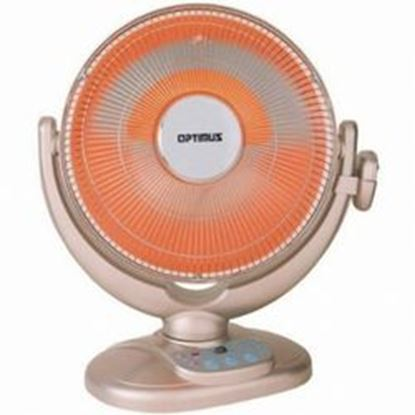 Image de 14 inch Energy-Saving Oscillating Dish Heater with Remote Control