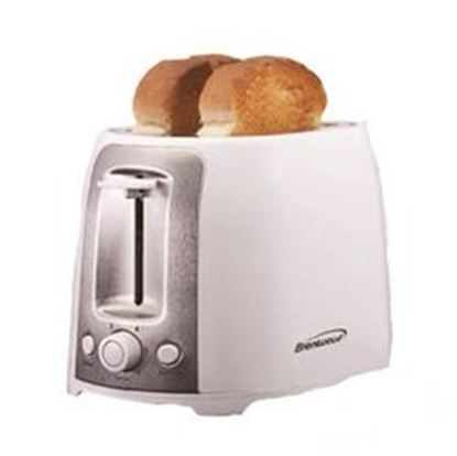 Image de Brentwood 2 Slice Cool Touch Toaster ; White and Stainless Steel