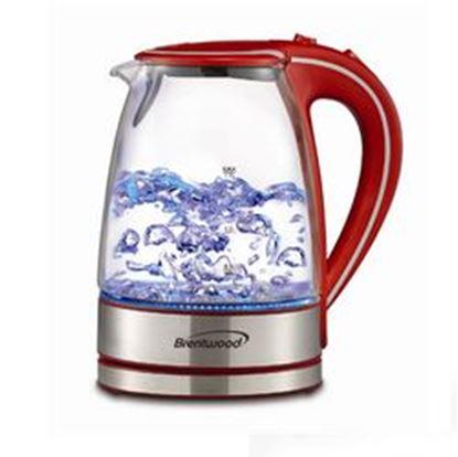 Image de Brentwood Tempered Glass Tea Kettles, 1.7-Liter, Red