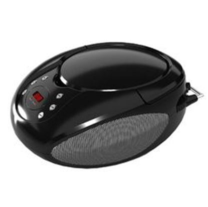 Image de Supersonic Portable CD Player with AUX Input and AM/FM Radio in Black