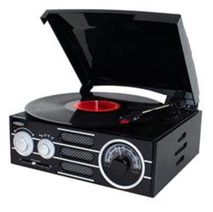 Image de Jensen 3-Speed Stereo Turntable with AM/FM Stereo Radio