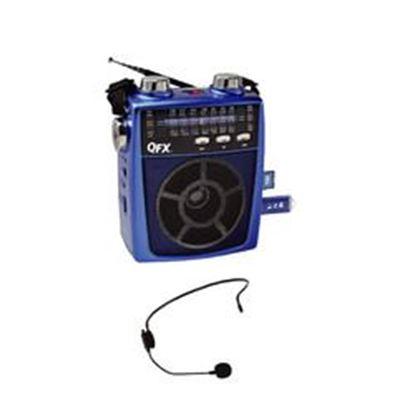 Image de QFX Portable Pa system USB/SD and AM/FM/SW1-6 Radio 8 Band Radio- Blue