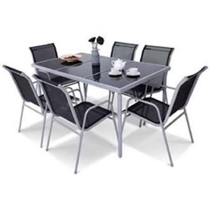 Picture of  7 Piece Patio Furniture Steel Table Chairs Dining Set
