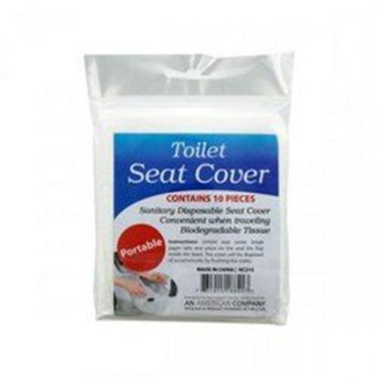 Picture of 10 Pack Disposable Toilet Seat Covers (pack of 24)
