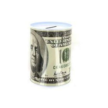 Picture of 100 Dollar Bill Tin Money Bank (pack of 24)