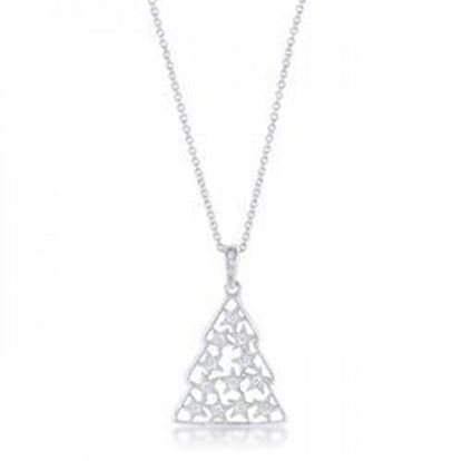 Picture of .2 Ct Cz Rhodium Christmas Tree Pave Holiday Pendant (pack of 1 ea)