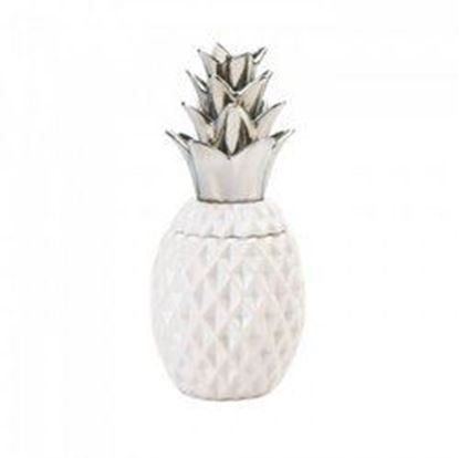 "Picture of 12"" Silver Topped Pineapple Jar (pack of 1 SET)"