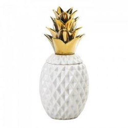 "Picture of 13"" Gold Topped Pineapple Jar (pack of 1 SET)"