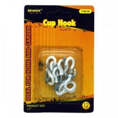 Picture of 12 Pack White Cup Hooks (pack of 24)