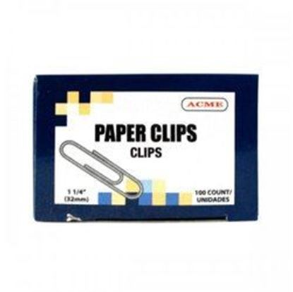 "Picture of 1.25"" Paper Clips 100 Count (pack of 30)"