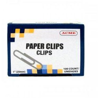 "Picture of 1"" Paper Clips 100 Count (pack of 30)"