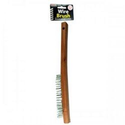"Picture of 13.5"" Wire Brush W/wood Handle (pack of 12)"