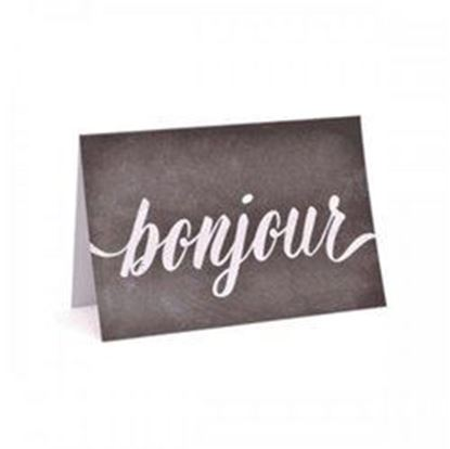 Picture of 10 Count Bonjour Notecards And Envelope Set (pack of 24)