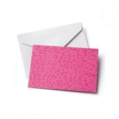 Picture of 10 Count Pink Leopard Notecards & Envelopes Set (pack of 24)